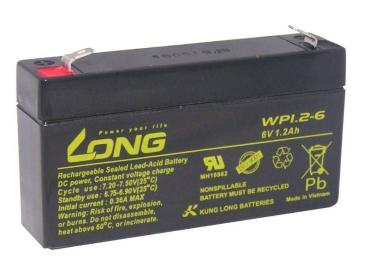 Akku kompatibel ST12S 6V 1,2Ah wie 1,3Ah AGM Blei wiederaufladbar wartungsfrei