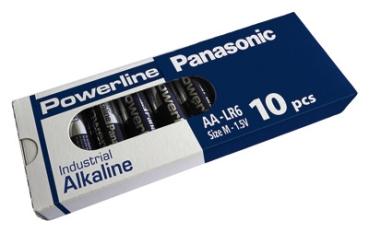 10 Stück Industrial Batterie AA LR06 Alkali Mignon Battery MN1500