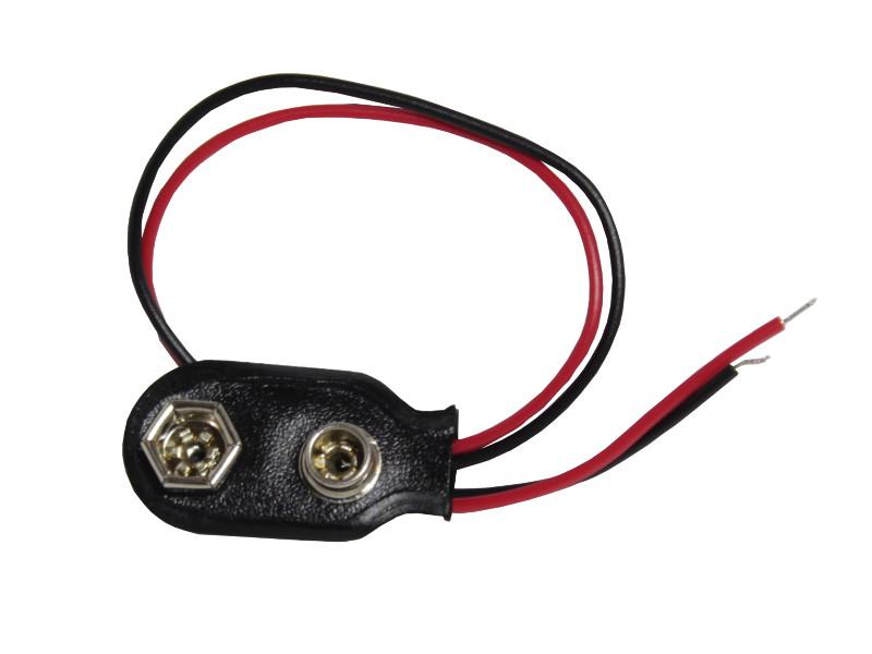 20Pcs 9V Batterie 9Volt Snap-on-Anschluss Clip mit Draht-Halter Kabelanschl